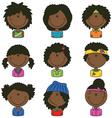 African-American girls avatar vector image