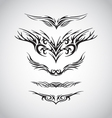 wings tribal style tattoo design vector image vector image