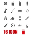 grey military icon set vector image
