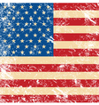 USA vintage grunge flag vector image vector image