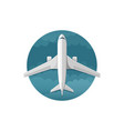 icon of airplane top view vector image