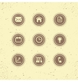 Set of retro icons business theme vector image