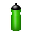 sport plastic water bottle in green design vector image