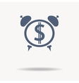 time is money icon Clock icon flat design vector image