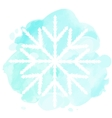 Watercolor with white snowflake vector image