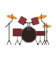 drums set icon vector image
