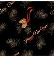xmas seamless pattern with pine cone vector image