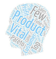 The Vital Few text background wordcloud concept vector image