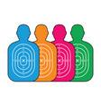 group of men paper targets vector image