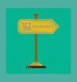 flat shading style icon pharmacy sign vector image