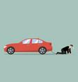 desperate businessman with car debt burden vector image vector image