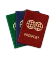 Realistic Passport Set Isolated On White vector image