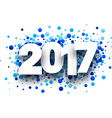 2017 background with blue drops vector image