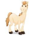 A cute horse vector image vector image