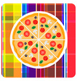 clip art of italian pizza on t vector image