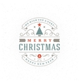 Merry Christmas Greeting Card Background vector image