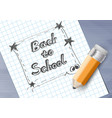back to school drawing on paper vector image