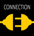 concept connection or disconnection electricity vector image