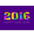 Happy new year 2016 text design colorful vector image