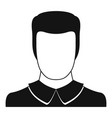 male avatar icon simple vector image