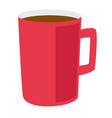 red coffee cup cartoon vector image