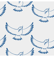 seamless pattern dove of peace vector image