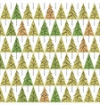 seamless pattern with fir trees isolated on vector image