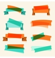 Set of retro ribbons banners and design elements vector image
