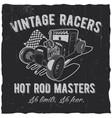 vintage racers poster vector image