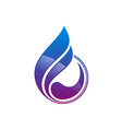 water drop abstract decorative logo vector image