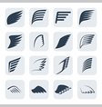 wings icon set vector image