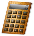 calculator with wooden frame vector image