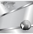 Modern metallic technology design vector image vector image