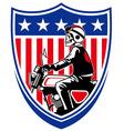 american biker vector image vector image