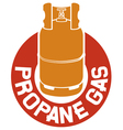 propane gas label vector image