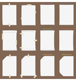 Paper sheet collection with solid shadows vector image vector image