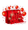Big sale design with shopping bag on white backgro vector image