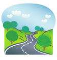 Road with trees on both sides vector image