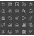 Money economy line icons vector image vector image