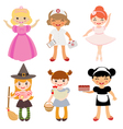 Girls occupations vector image