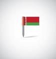 belarus flag pin vector image