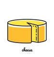 Line art cheese icon Infographic element vector image