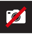 No camera sign vector image