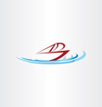ocean boat ship design vector image