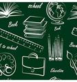 school item seamless vector image