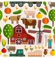 Flat Farm Pattern vector image