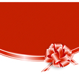 Red Frame With Ribbon Bow vector image