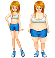 A fat and a slim woman vector image vector image
