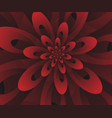 abstract digital modern red floral design vector image