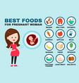 happy pregnant woman design vector image